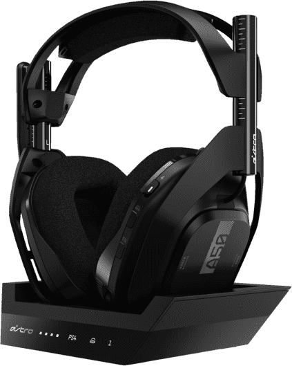 Black ASTRO Gaming A50 Wireless Headphones + Base Station, Gen 4.1