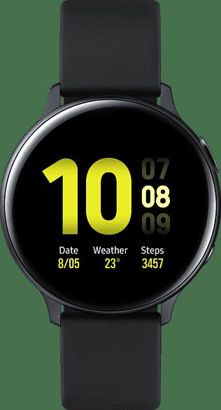 Aqua Black Samsung Galaxy Watch Active2 LTE, 44mm Aluminium case, Fluororubber Strap.1