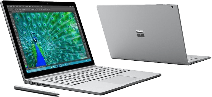 "Silver Microsoft Surface Book 13.5"".2"