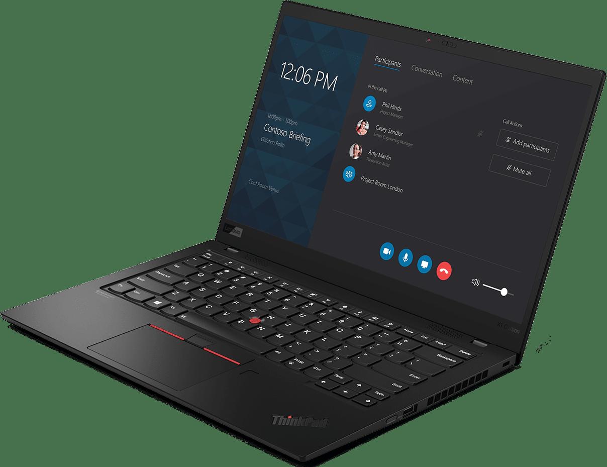 Schwarz Lenovo ThinkPad X1 Carbon G7.3