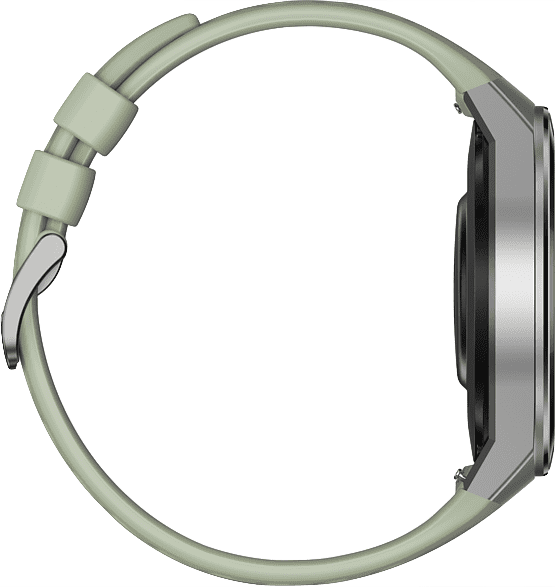 Mint green Huawei Watch GT 2e, 46mm Metal case,  Plastic fluoroelastomer band.4