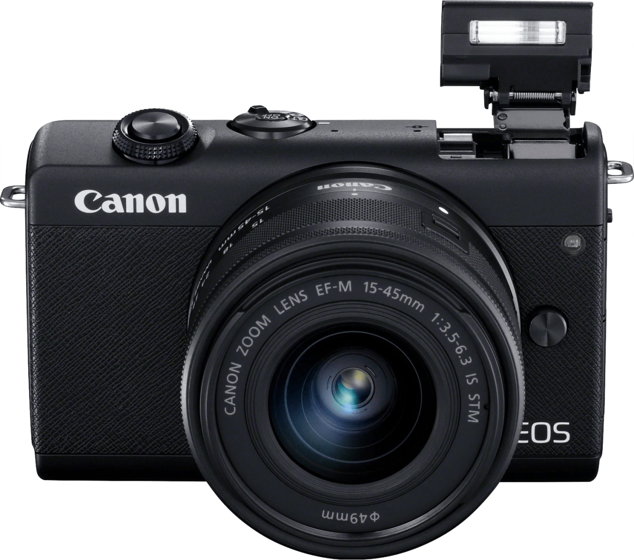 Black Canon EOS M200 Kit (EF-M 15 - 45mm Lens).2
