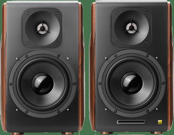 Brown / Black Edifier S3000Pro Bookshelf Speaker.3