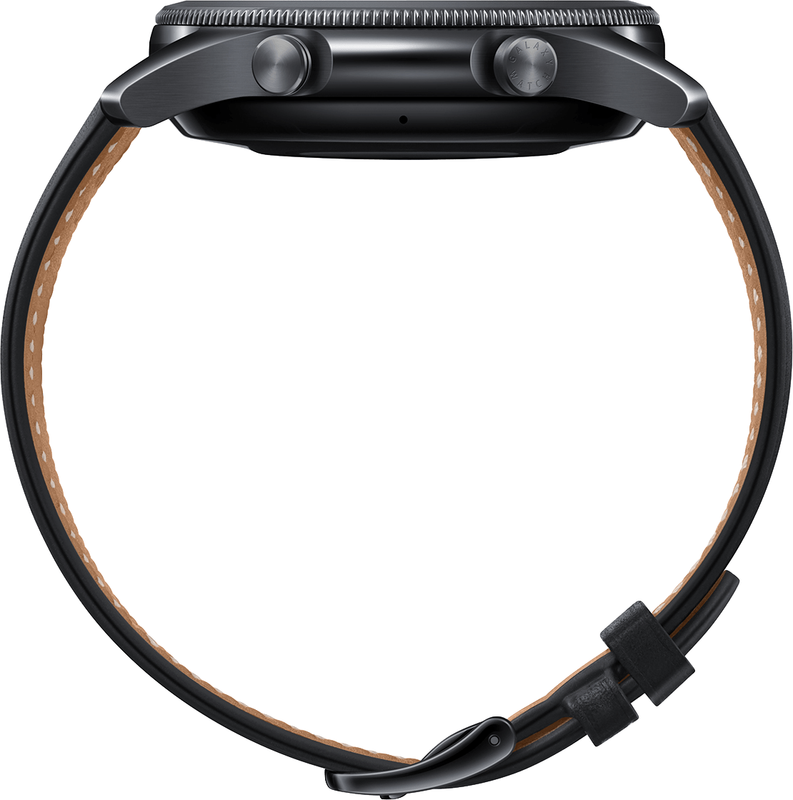 Mystic Black Samsung Galaxy Watch 3 (LTE), 45mm Stainless steel case, Real leather band.3