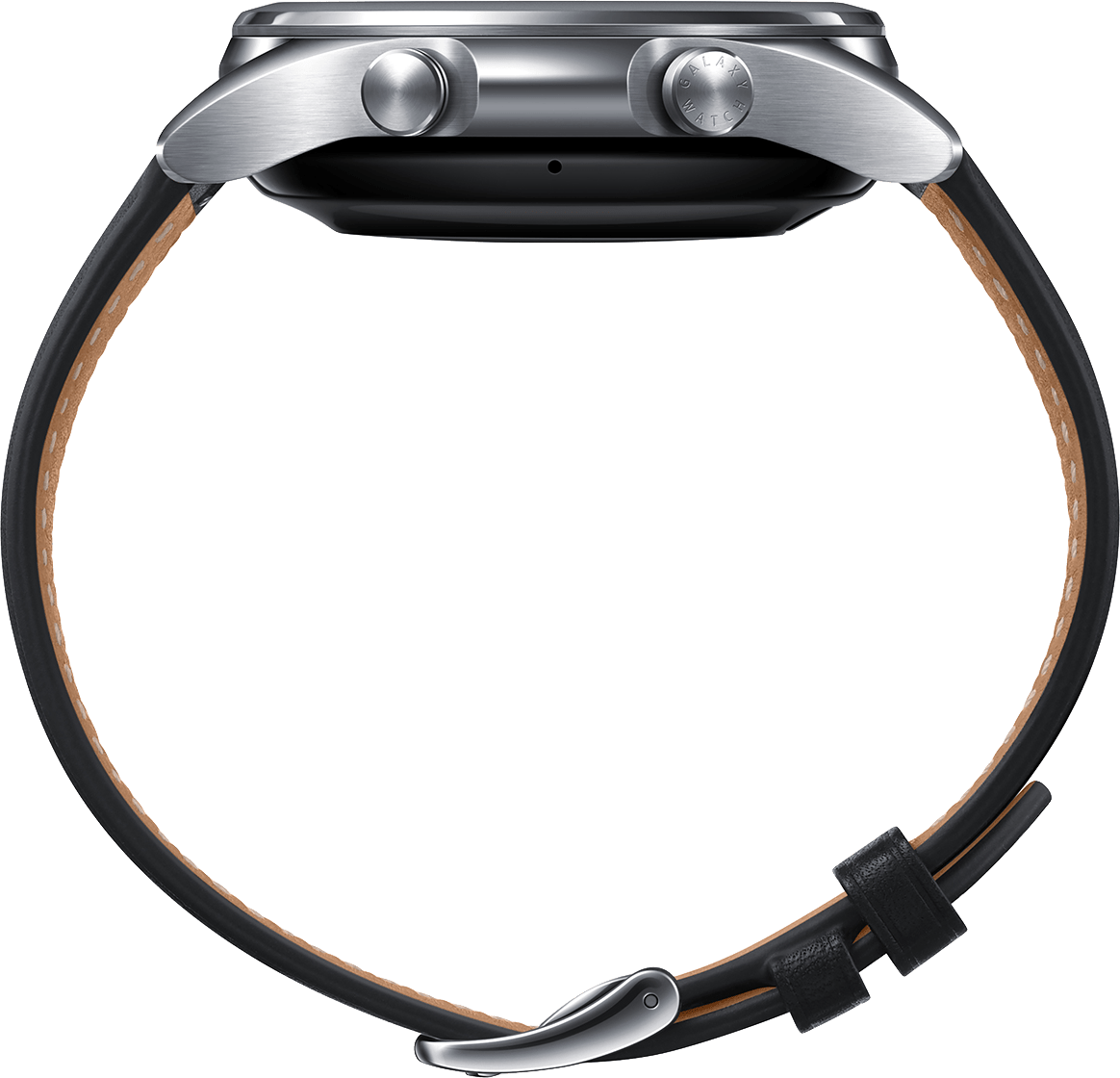 Mystic Silver Samsung Galaxy Watch 3, 41mm Stainless steel case, Real leather band.4