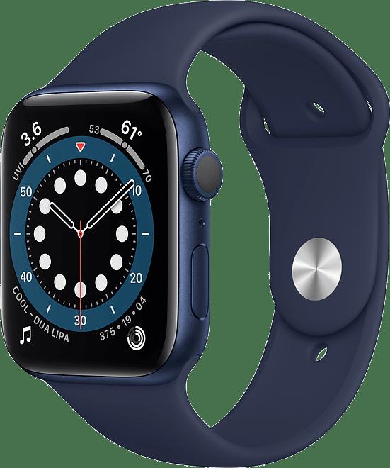 Dunkle Marine Apple Watch Serie 6 GPS, 40-mm-Aluminiumgehäuse, Sportarmband.1