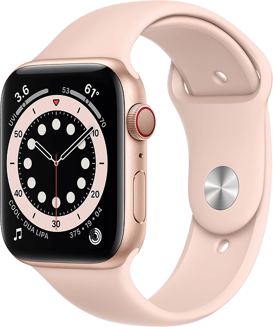 Sand pink Apple Watch Series 6 GPS + Cellular , 44mm Aluminium case, Sport band.1