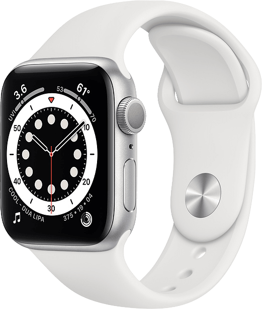 White Apple Watch Series 6 GPS, 44mm Aluminium case, Sport band.1