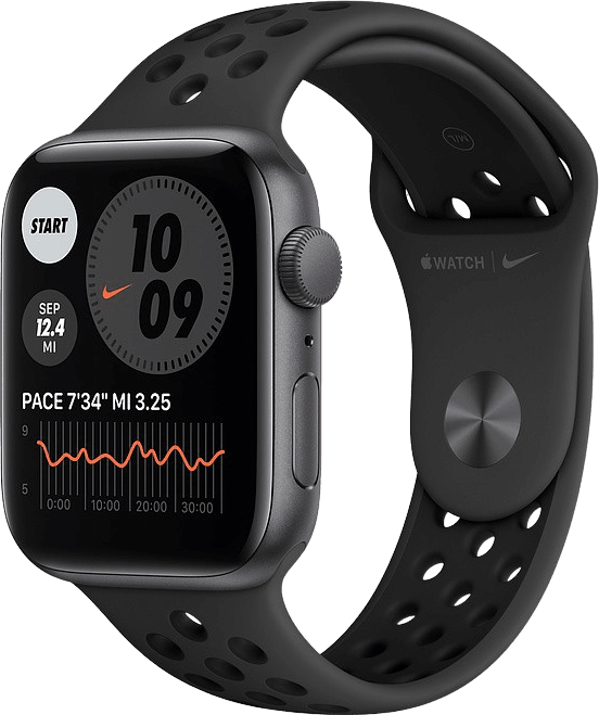 Anthrazit / schwarz Apple Watch Nike SE GPS, 40-mm-Aluminiumgehäuse, Sportarmband.1