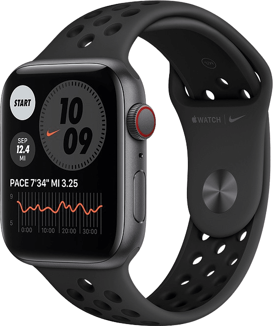 Anthrazit / schwarz Apple Watch Nike SE GPS + Cellular, 44mm.1