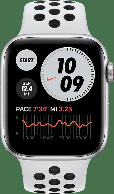 Platinum/black Apple Watch Nike SE GPS + Cellular, 40mm.2
