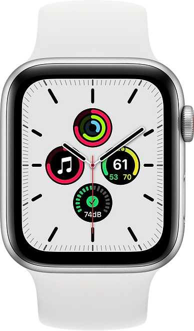 White Apple Watch SE GPS + Cellular, 40mm Aluminium case, Sport band.2