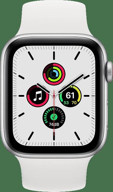 Weiß Apple Watch SE GPS + Cellular, 40-mm-Aluminium-Gehäuse, Sportarmband.2
