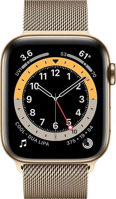 Gold Apple Watch Series 6 GPS + Cellular , 40mm.2