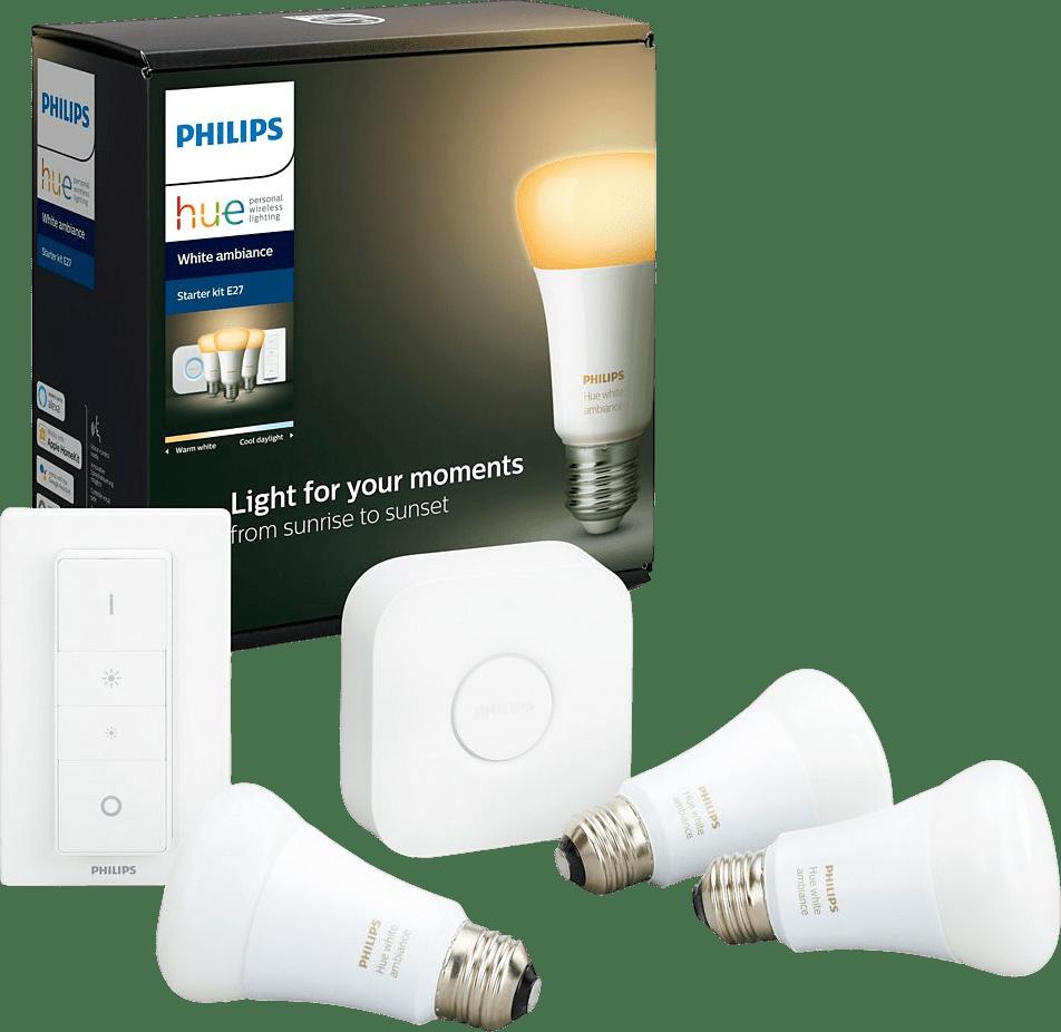 Weiß Philips White Ambiance Starter-Kit E27.1