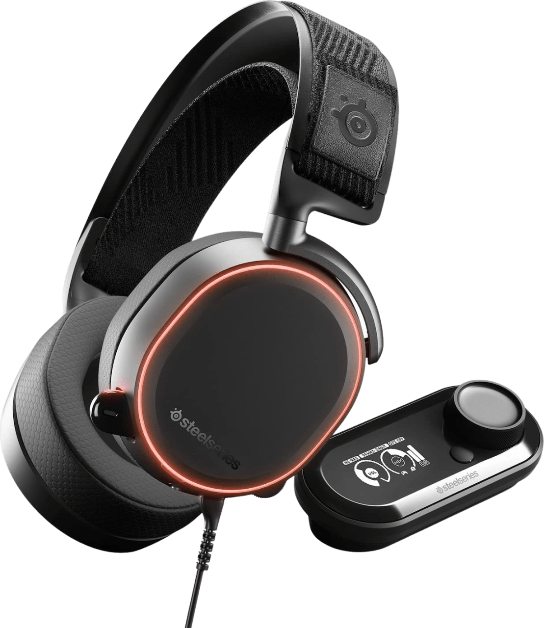Black SteelSeries Arctis Pro + GameDAC.1