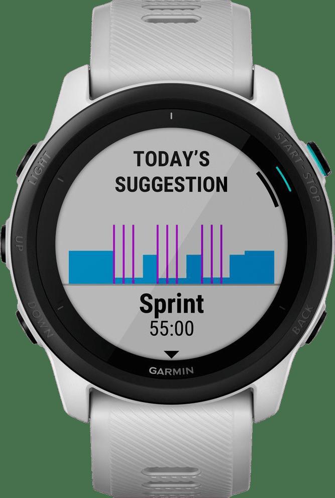 Wit-grijs Garmin Forerunner 745 GPS Sports watch.3