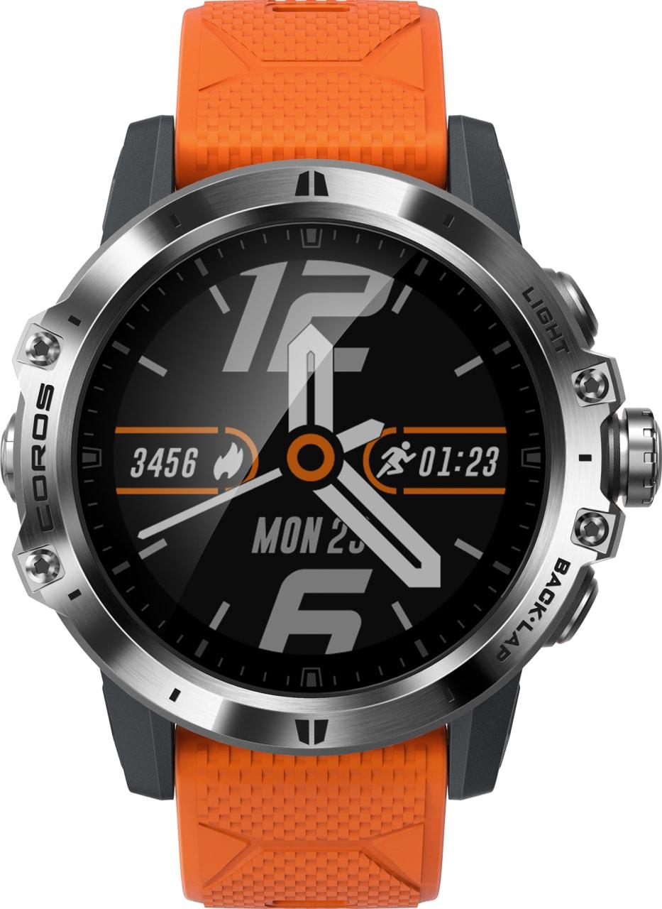 Oranje & zwart Coros Vertix GPS Sports watch.2