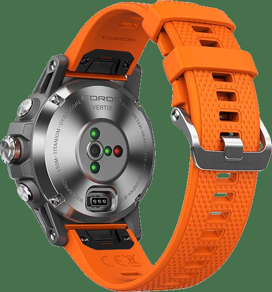 Oranje & zwart Coros Vertix GPS Sports watch.4
