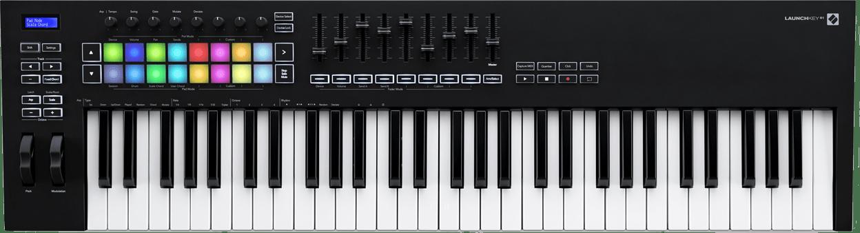 Black Novation Launchkey 61 MK3 USB MIDI keyboard.1