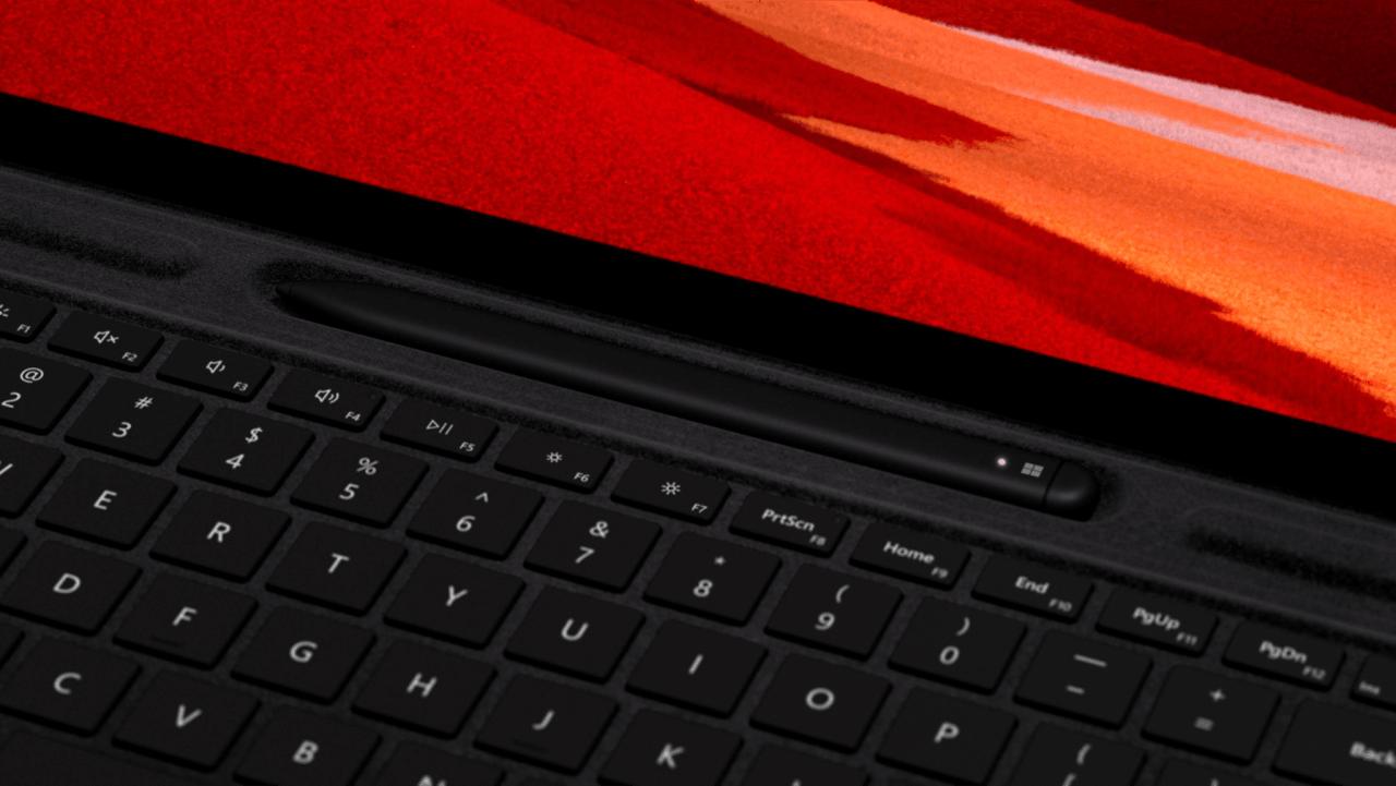 Black Microsoft Surface Pro X Signature Keyboard and Slim Pen.2