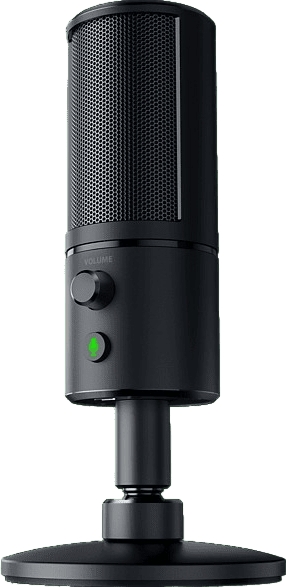 Black Razer Seiren Emote Gaming Microphone.3