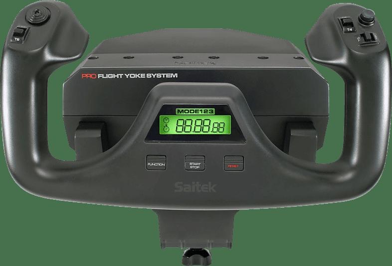 Black Logitech Saitek PRO Flight Yoke System Flight Simulator Controller.2