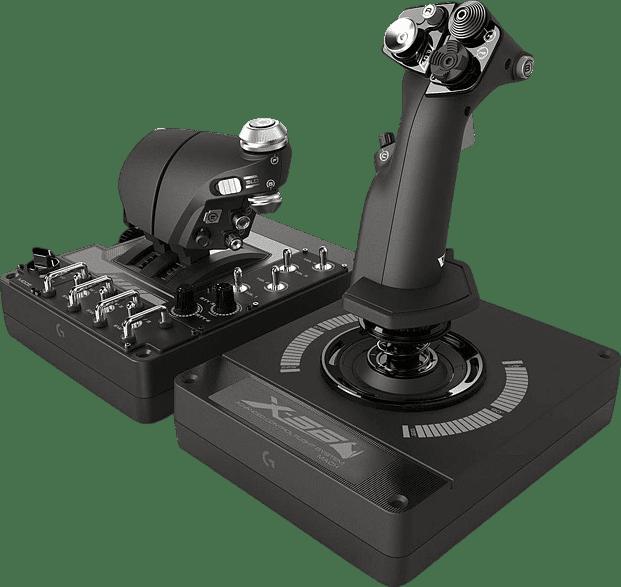 Black Logitech X56 HOTAS Flight Simulator Controller.1