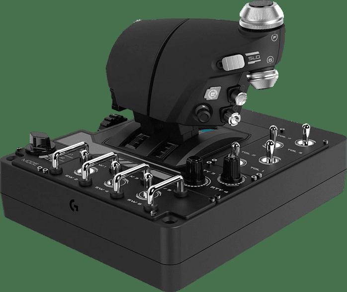 Black Logitech X56 HOTAS Flight Simulator Controller.2