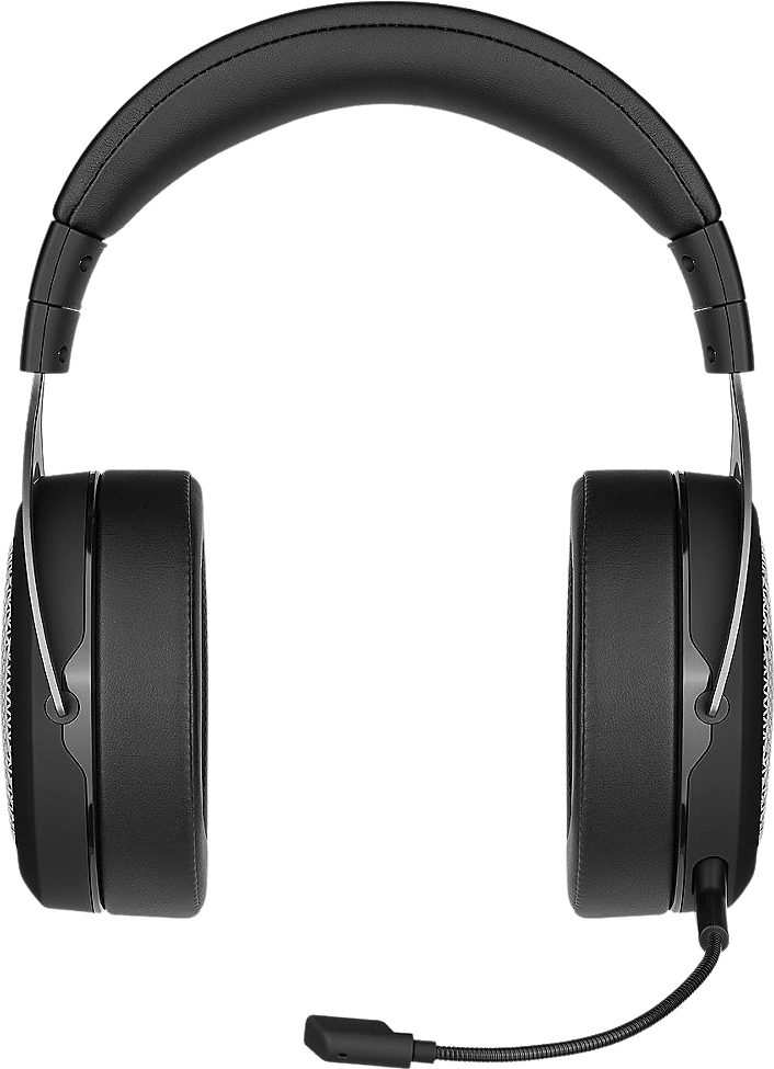 Black / Silver Corsair HS75 XB Wireless Over-ear Gaming Headphones.3