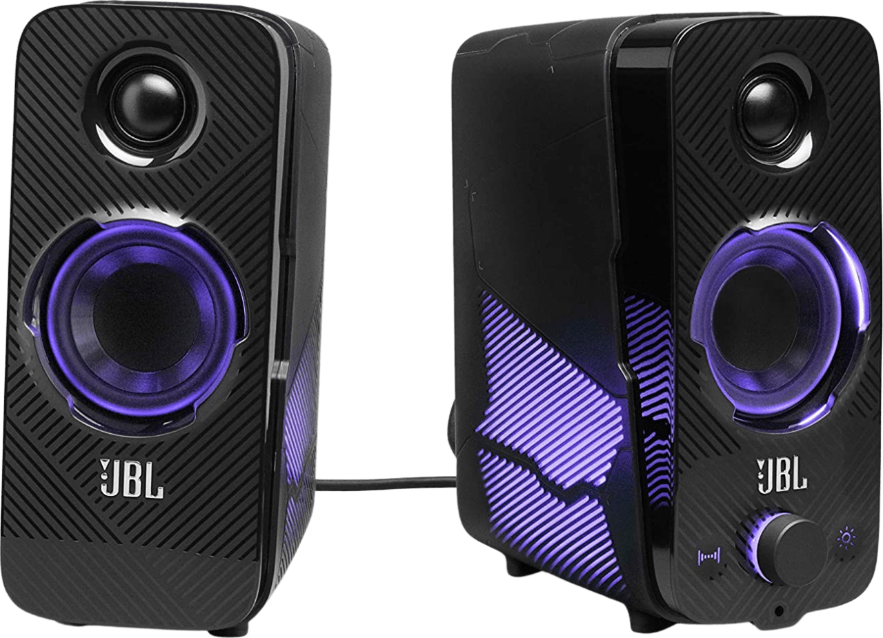 Black JBL Quantum Duo Gaming Speakers.2