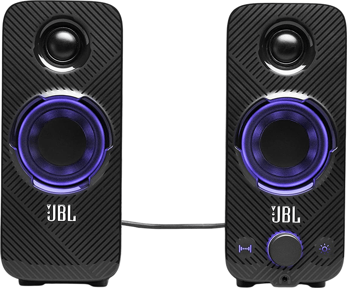 Black JBL Quantum Duo Gaming Speakers.3