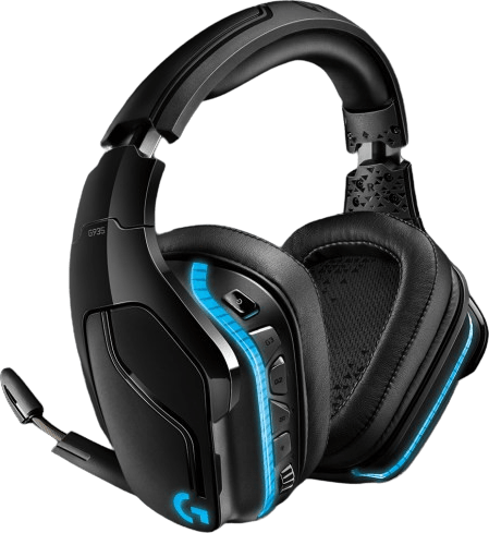Black Logitech G935 Over-ear Gaming Headphones.2