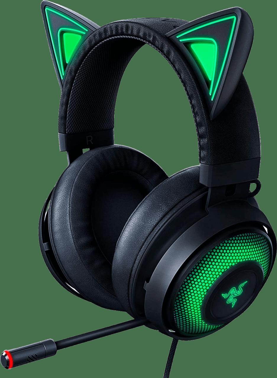 Black Razer Kraken Kitty Edition Over-ear Gaming Headphones.2