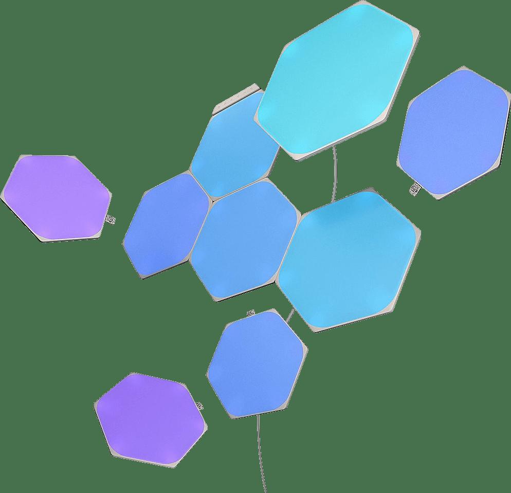 Weiß Nanoleaf Shapes Hexagons Starter Kit 9 PK.1
