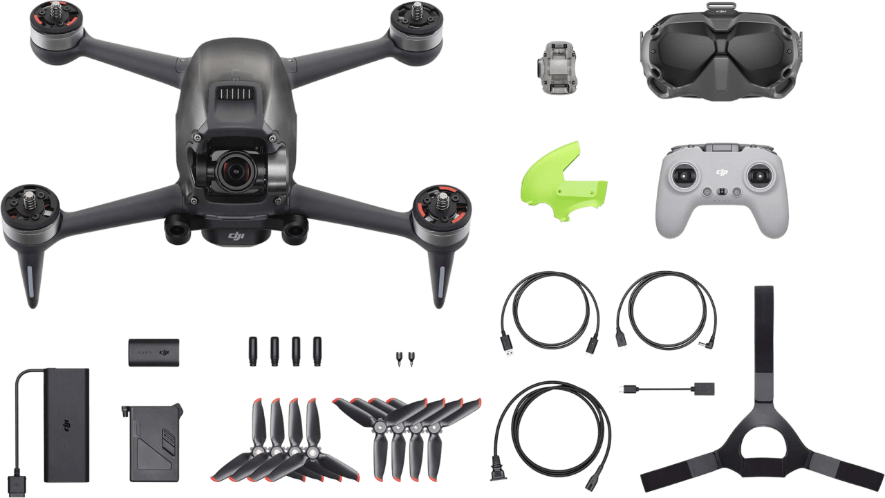 Grey DJI FPV Combo Drone.4