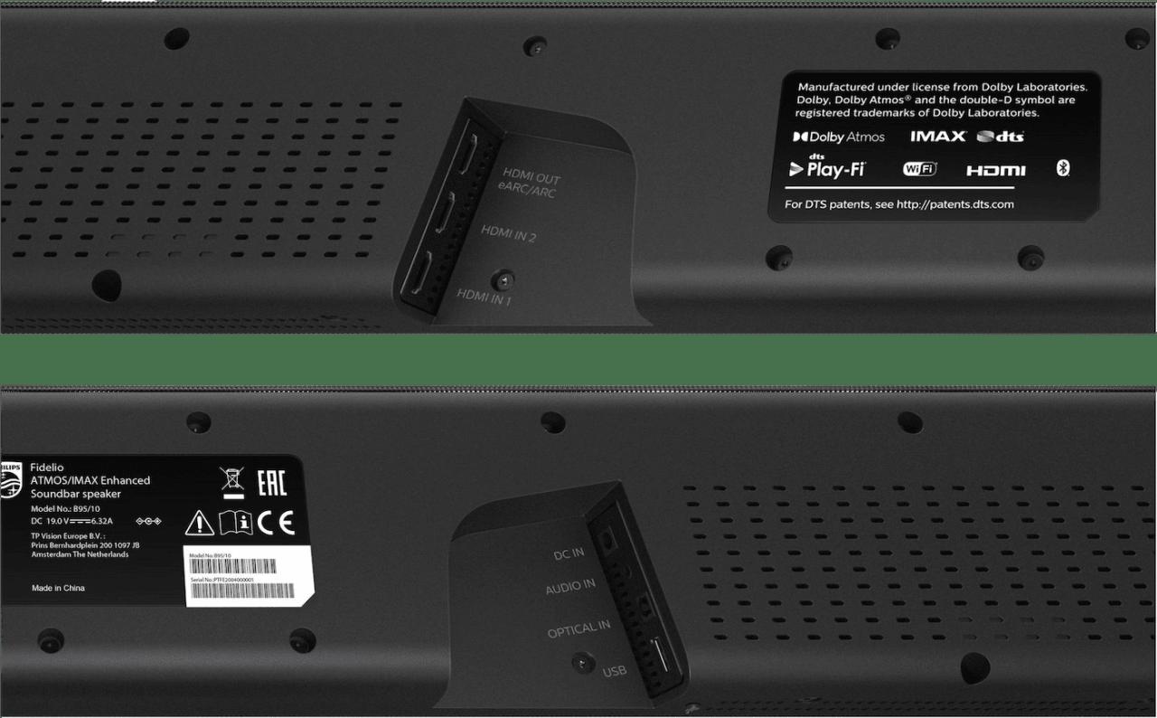 Schwarz Philips Fidelio B95/10 Soundbar mit Subwoofer.3