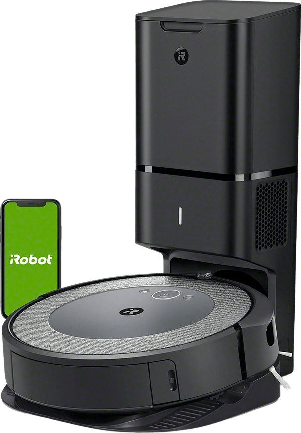 Neutral iRobot Roomba i3+ Vacuum Cleaner Robot with Automatic Dirt Disposal.1