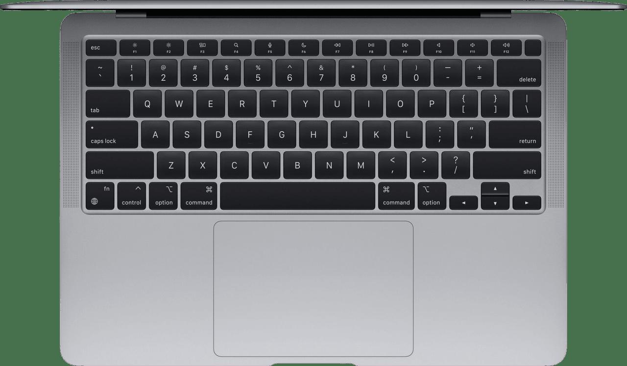 Space Grau Apple MacBook Air (Late 2020) - English (QWERTY) Notebook - Apple M1 - 16GB - 256GB SSD - Apple Integrated 7-core GPU.3