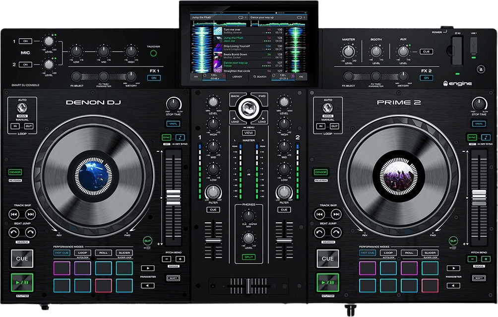 Schwarz Denon DJ Prime 2 All-in-One-DJ-Controller.2