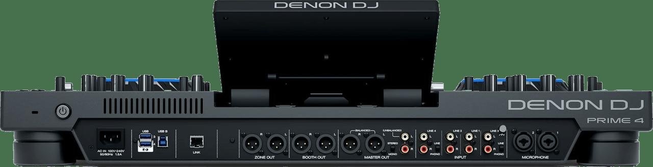 Schwarz Denon DJ Prime 4 All in one DJ controller.4