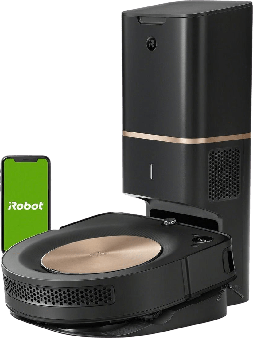 Black iRobot Roomba s9+ Vacuum Cleaner Robot with Automatic Dirt Disposal .1