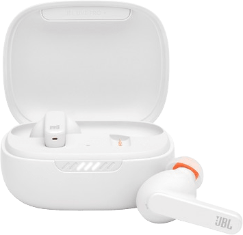 White JBL Live pro + Noise-cancelling In-ear Bluetooth Headphones.1