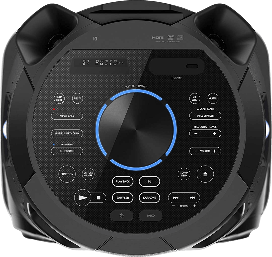 Black Sony MHC-V73D Partybox Party Bluetooth Speaker.3