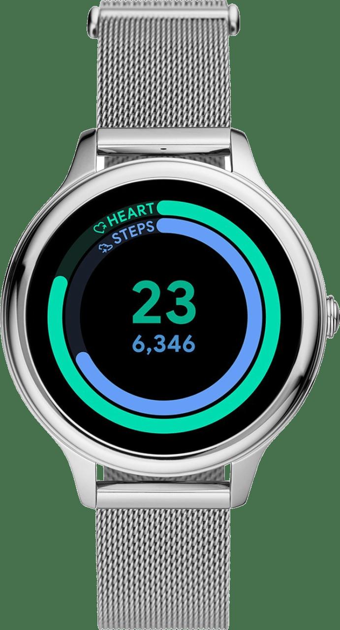 Silber Fossil Gen 5E Damen-Smartwatch, 42-mm-Edelstahlgehäuse.4