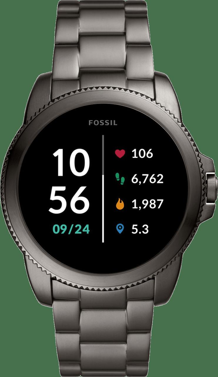 Grey Fossil Gen 5E Men's Smartwatch, 44mm Stainless Steel Case.1