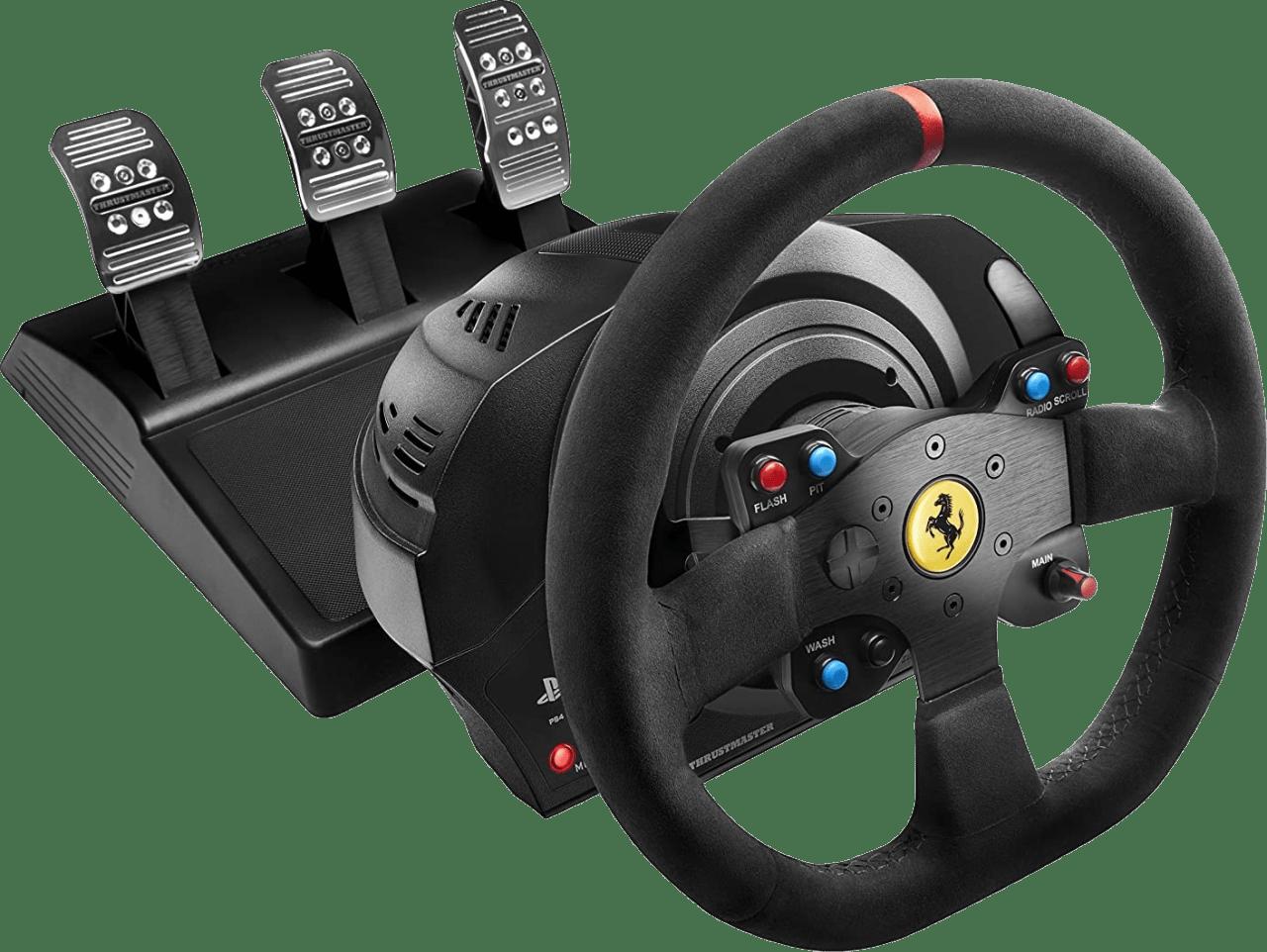Black Thrustmaster T300 Ferrari Racing Steering Wheel.1