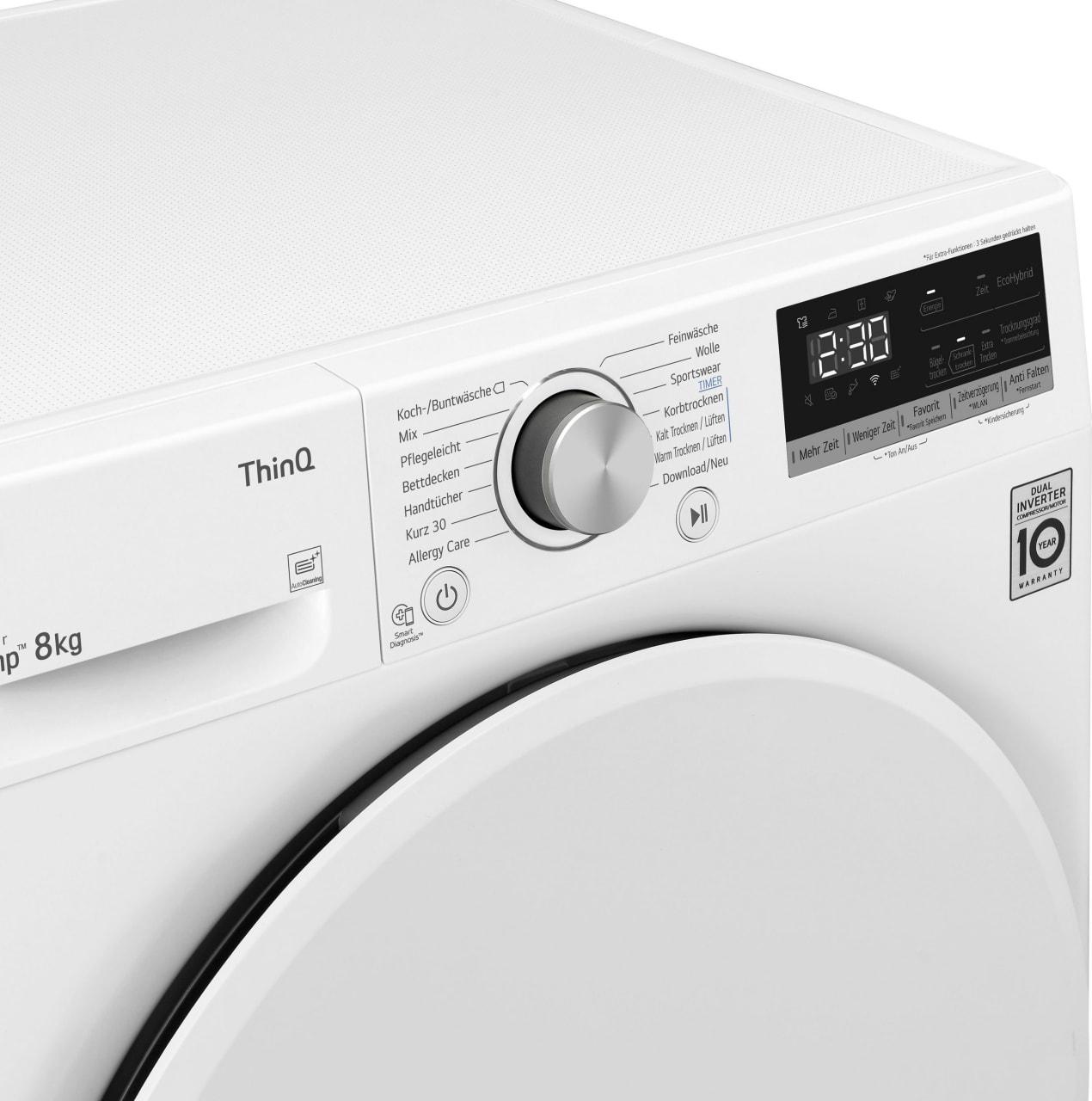 Weiß LG Wärmepumpentrockner V3RT8.4