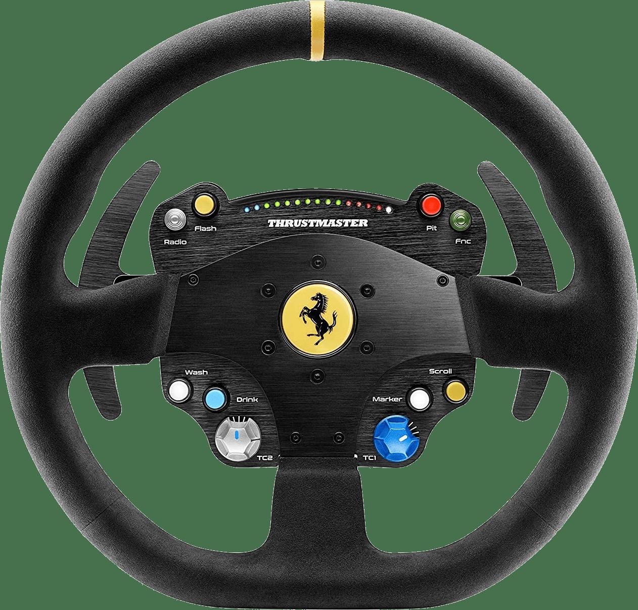 Black Thrustmaster TS-PC Ferrari 488 Challenge Edition Racing Steering Wheel.4