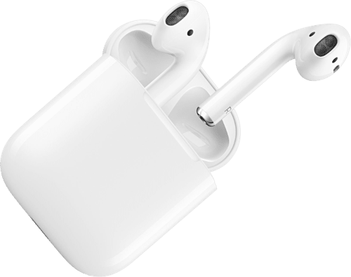 White Apple AirPods.3
